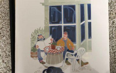 """Sidewalk Café, Tenakee"" by Rie Munoz"